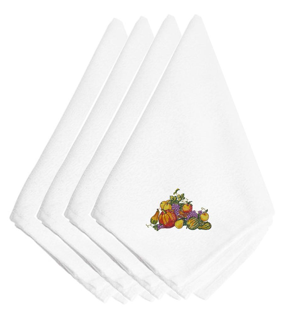 Thanksgiving Centerpiece Embroidered Napkins Set of 4 EMBT3505NPKE by Caroline's Treasures