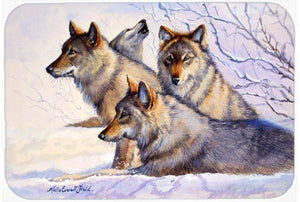 Buy this Wolves by Mollie Field Glass Cutting Board Large FMF0007LCB