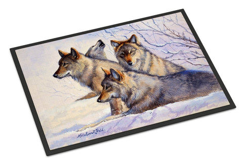 Buy this Wolves by Mollie Field Indoor or Outdoor Mat 18x27 FMF0007MAT