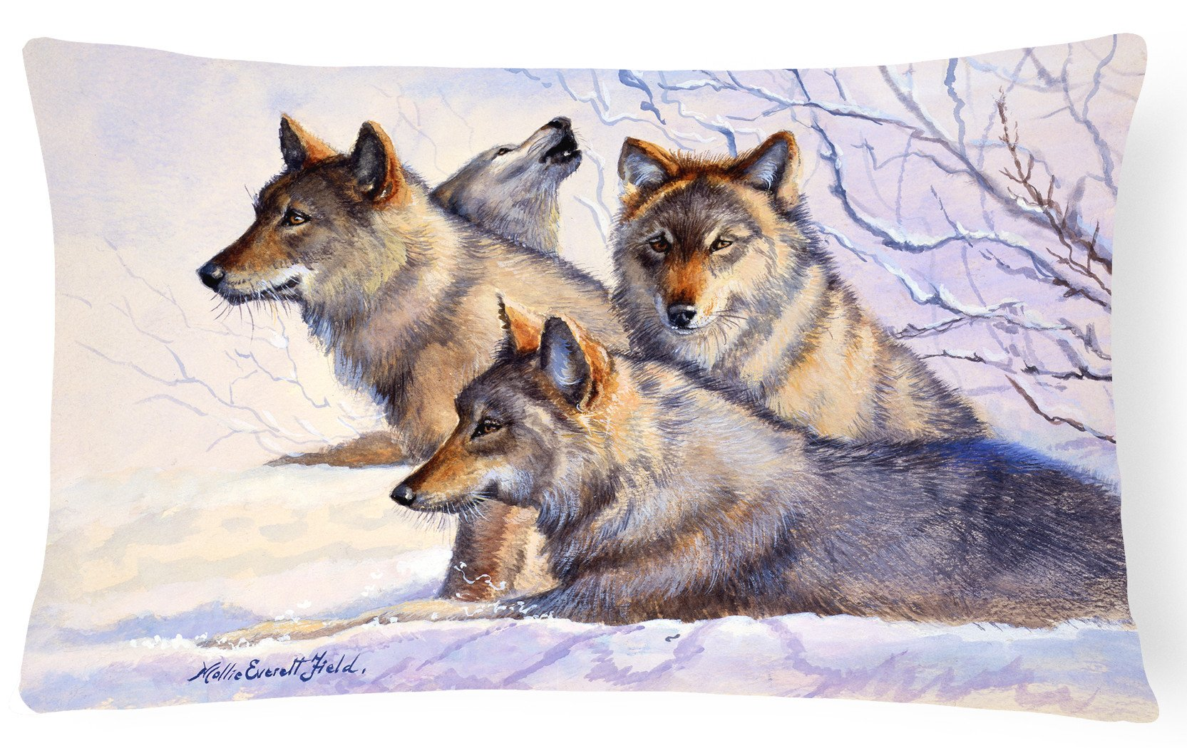 Buy this Wolves by Mollie Field Fabric Decorative Pillow FMF0007PW1216