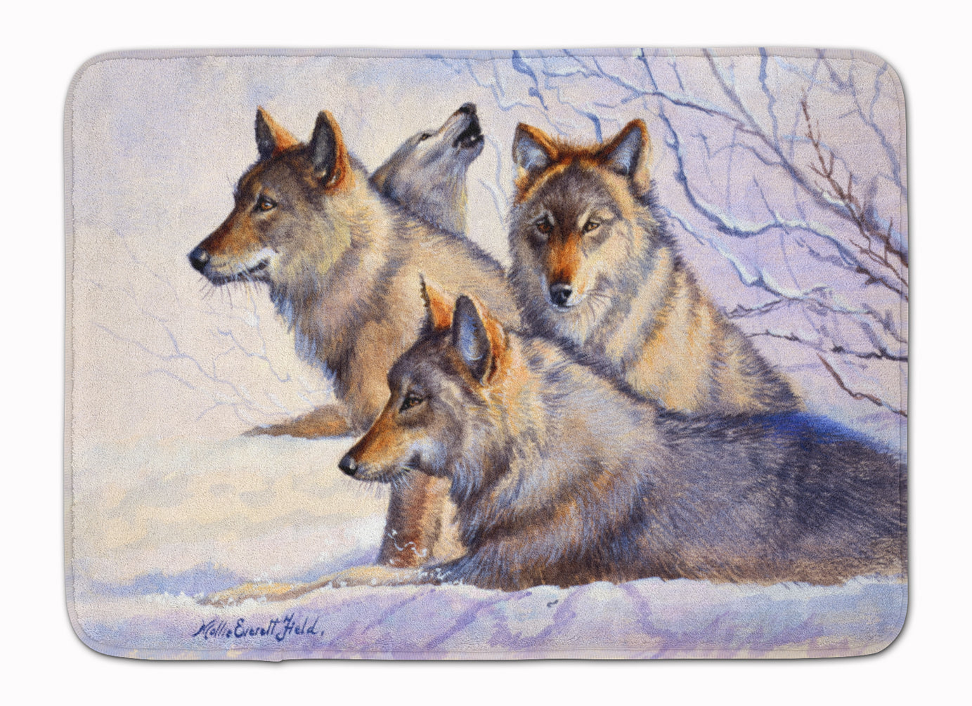 Buy this Wolves by Mollie Field Machine Washable Memory Foam Mat FMF0007RUG