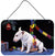 Bull Terrier under the Christmas Tree Wall or Door Hanging Prints FMF0012DS812 by Caroline's Treasures