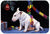 Bull Terrier under the Christmas Tree Glass Cutting Board Large FMF0012LCB - the-store.com