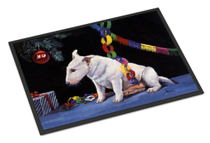 Buy this Bull Terrier under the Christmas Tree Indoor or Outdoor Mat 18x27 FMF0012MAT