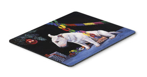 Buy this Bull Terrier under the Christmas Tree Mouse Pad, Hot Pad or Trivet FMF0012MP