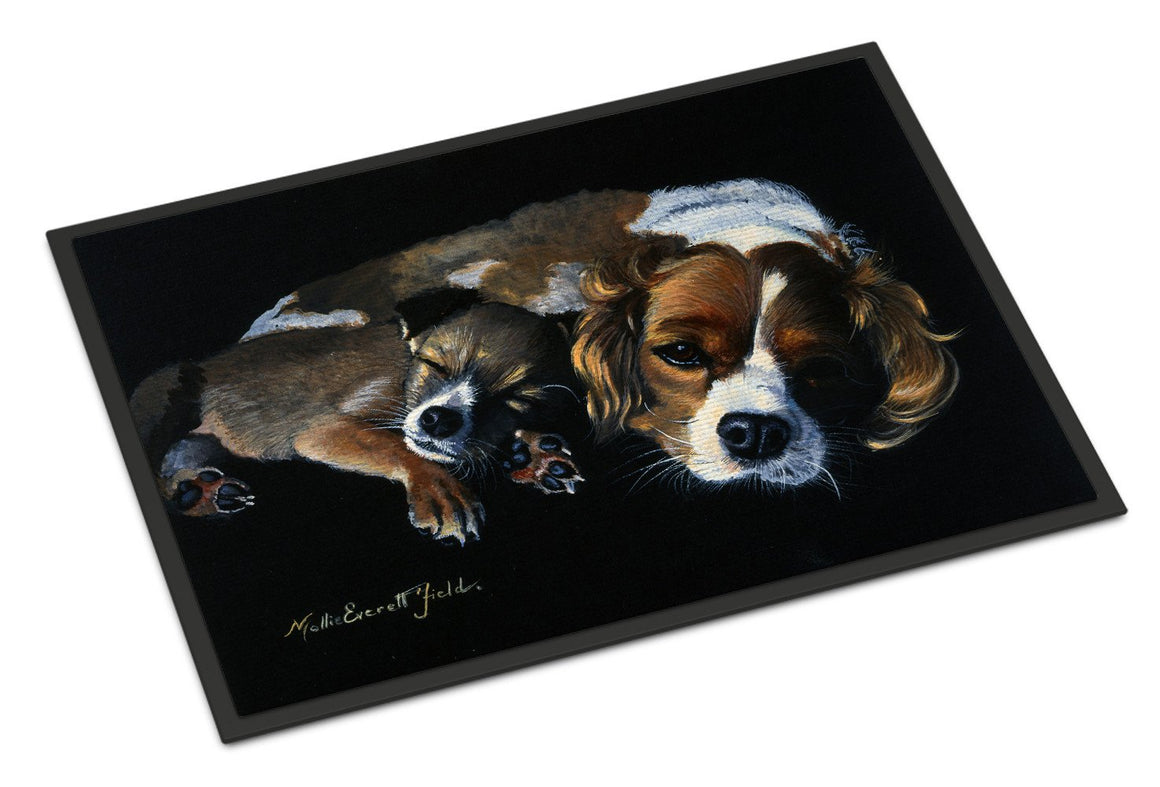 Cozy Pals with Cavalier Spaniel Indoor or Outdoor Mat 24x36 FMF0022JMAT - the-store.com