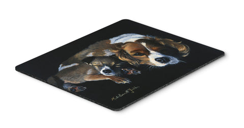 Buy this Cozy Pals with Cavalier Spaniel Mouse Pad, Hot Pad or Trivet FMF0022MP