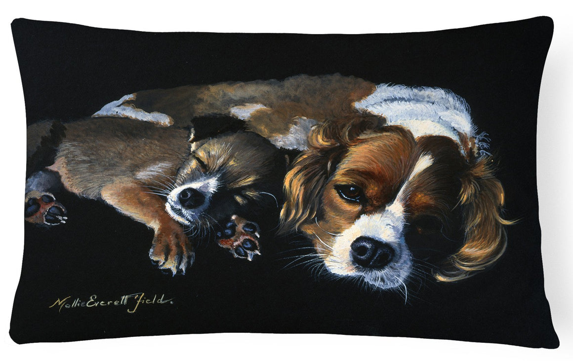 Cozy Pals with Cavalier Spaniel Fabric Decorative Pillow FMF0022PW1216 - the-store.com