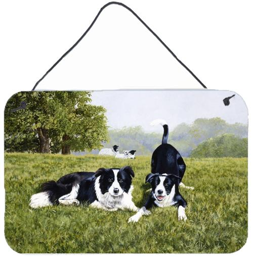 Let's Play Border Collie Wall or Door Hanging Prints by Caroline's Treasures