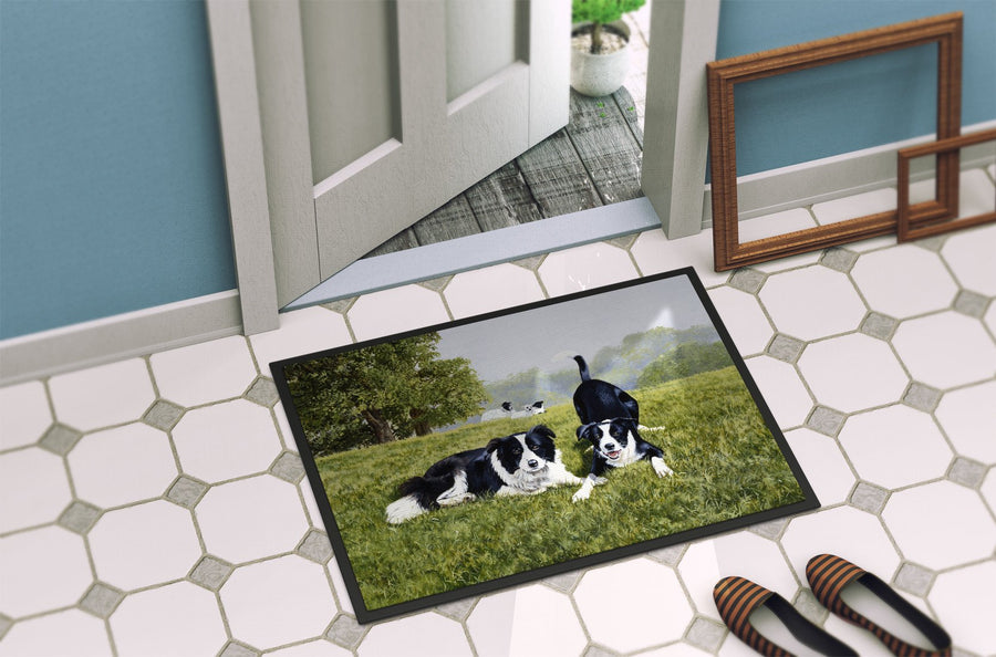 Buy this Let's Play Border Collie Indoor or Outdoor Mat 24x36 FRF0014JMAT
