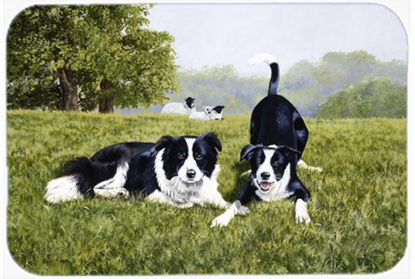 Buy this Let's Play Border Collie Glass Cutting Board Large FRF0014LCB