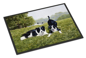 Buy this Let's Play Border Collie Indoor or Outdoor Mat 18x27 FRF0014MAT