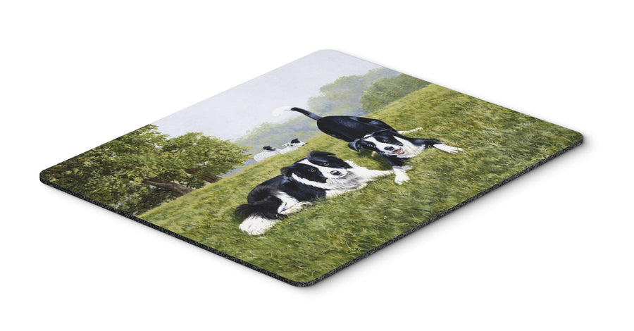 Buy this Let's Play Border Collie Mouse Pad, Hot Pad or Trivet FRF0014MP