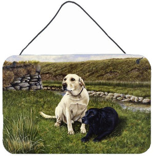 Buy this Yellow and Black Labradors Wall or Door Hanging Prints