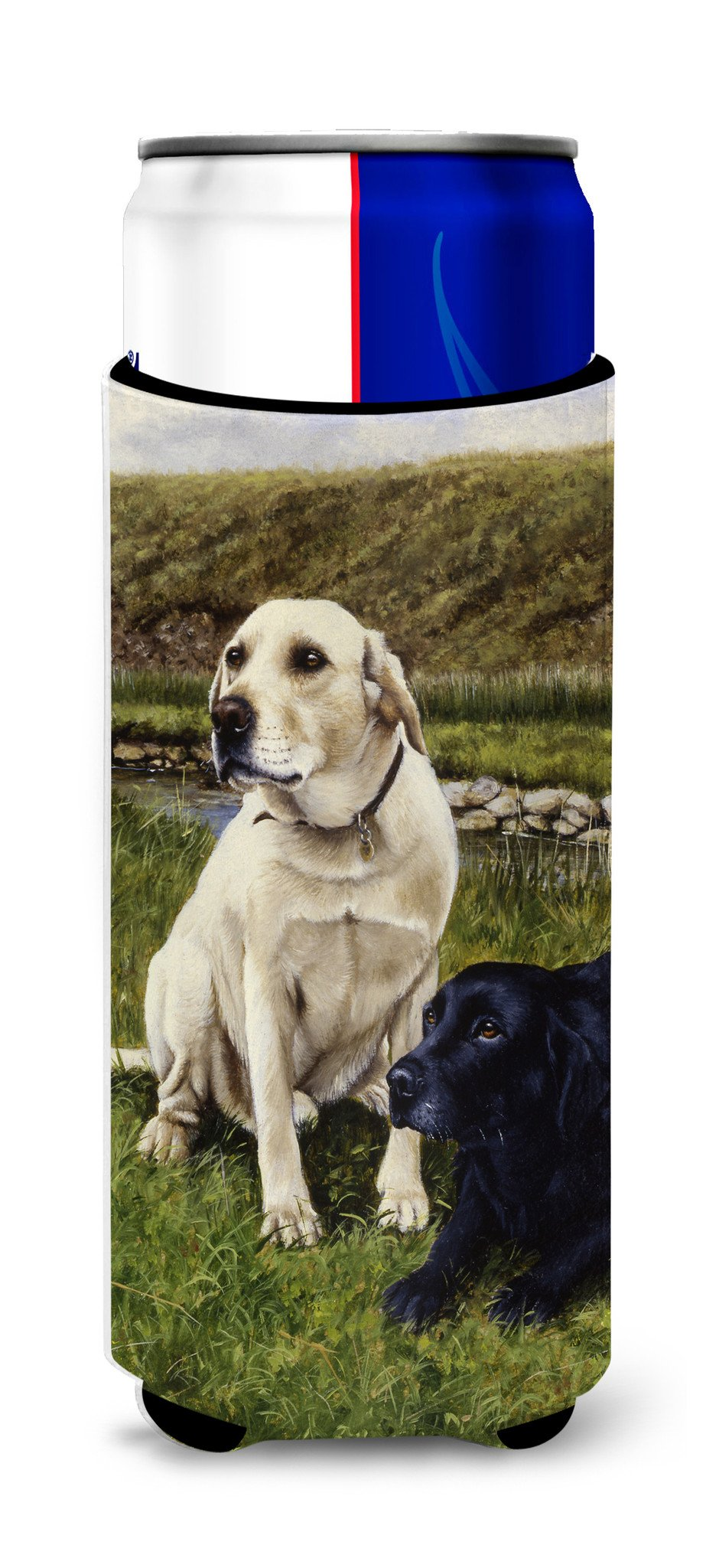 Buy this Yellow and Black Labradors Ultra Beverage Insulators for slim cans FRF0018MUK