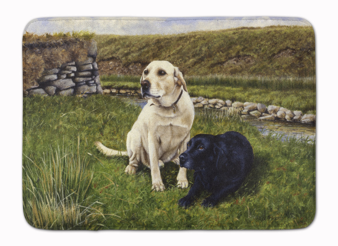 Buy this Yellow and Black Labradors Machine Washable Memory Foam Mat FRF0018RUG