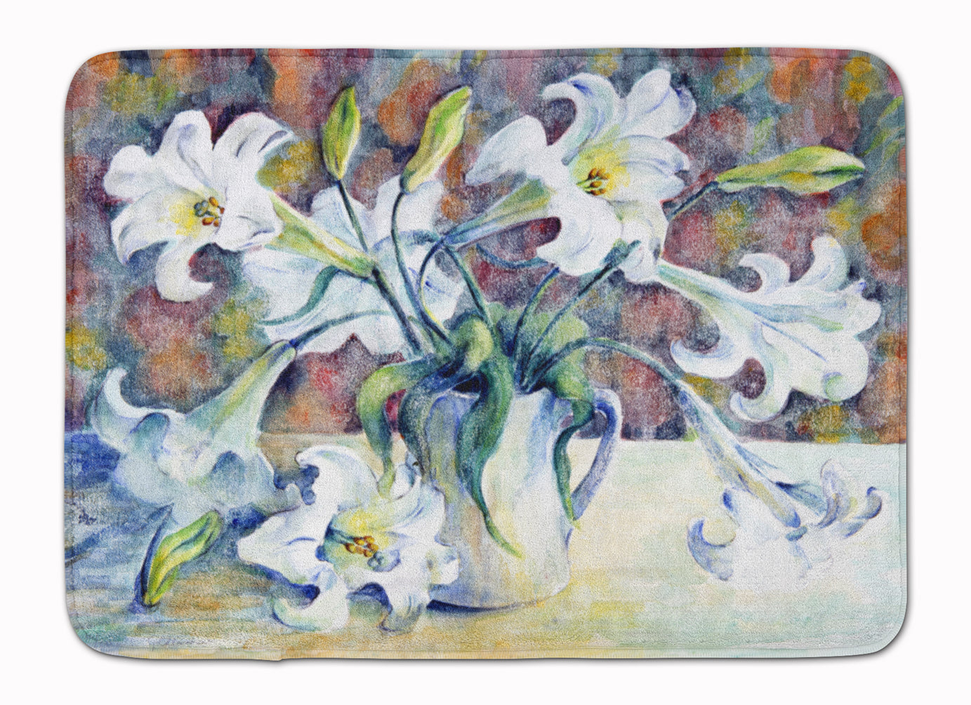Easter Lillies Machine Washable Memory Foam Mat GFGO0014RUG by Caroline's Treasures