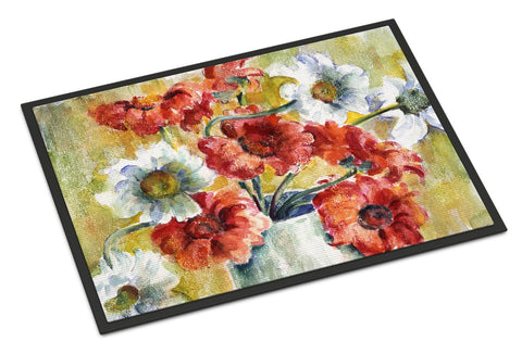 Buy this Flowers by Fiona Goldbacher Indoor or Outdoor Mat 18x27 GFGO0028MAT