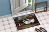 Chickens, Hens and Puppy Indoor or Outdoor Mat 24x36 HEH0003JMAT - the-store.com