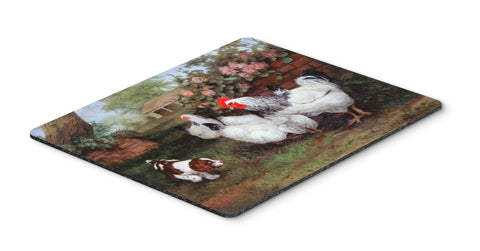 Buy this Chickens, Hens and Puppy Mouse Pad, Hot Pad or Trivet HEH0003MP