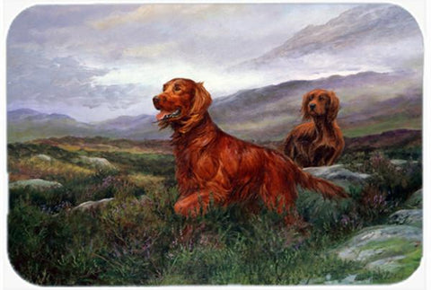 Buy this Irish Setters by Elizabeth Halstead Glass Cutting Board Large HEH0081LCB