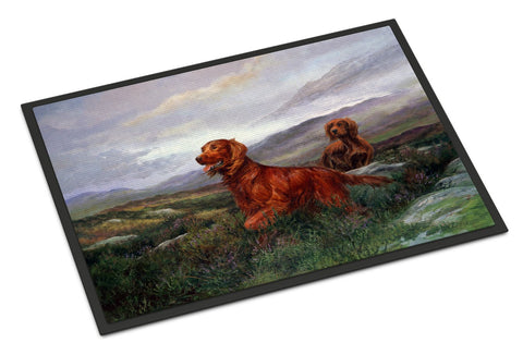 Buy this Irish Setters by Elizabeth Halstead Indoor or Outdoor Mat 18x27 HEH0081MAT