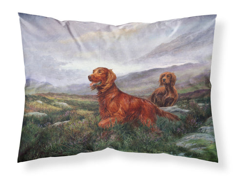 Buy this Irish Setters by Elizabeth Halstead Fabric Standard Pillowcase HEH0081PILLOWCASE