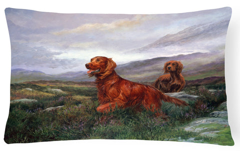Buy this Irish Setters by Elizabeth Halstead Fabric Decorative Pillow HEH0081PW1216
