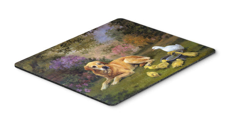 Buy this Yellow Labrador and Chicks Mouse Pad, Hot Pad or Trivet HEH0096MP