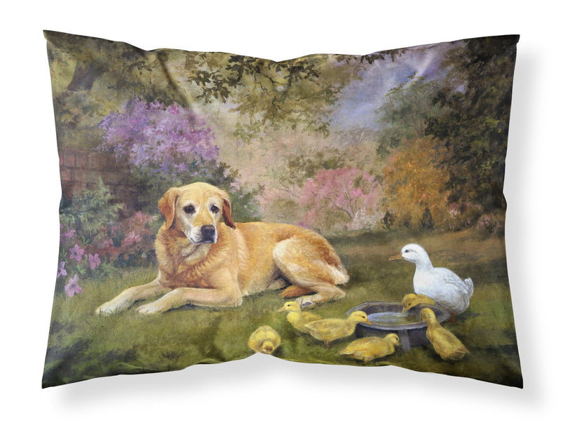 Buy this Yellow Labrador and Chicks Fabric Standard Pillowcase HEH0096PILLOWCASE