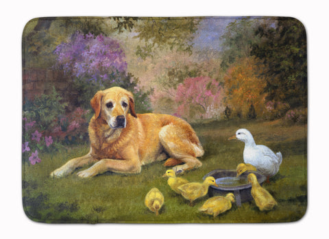 Buy this Yellow Labrador and Chicks Machine Washable Memory Foam Mat HEH0096RUG