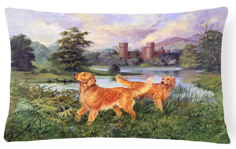 Buy this Golden Retrievers Fabric Decorative Pillow HEH0098PW1216