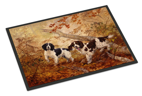 Buy this Springer Spaniels by Elizabeth Halstead Indoor or Outdoor Mat 24x36 HEH0139JMAT