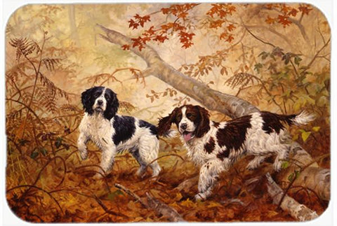 Buy this Springer Spaniels by Elizabeth Halstead Glass Cutting Board Large HEH0139LCB
