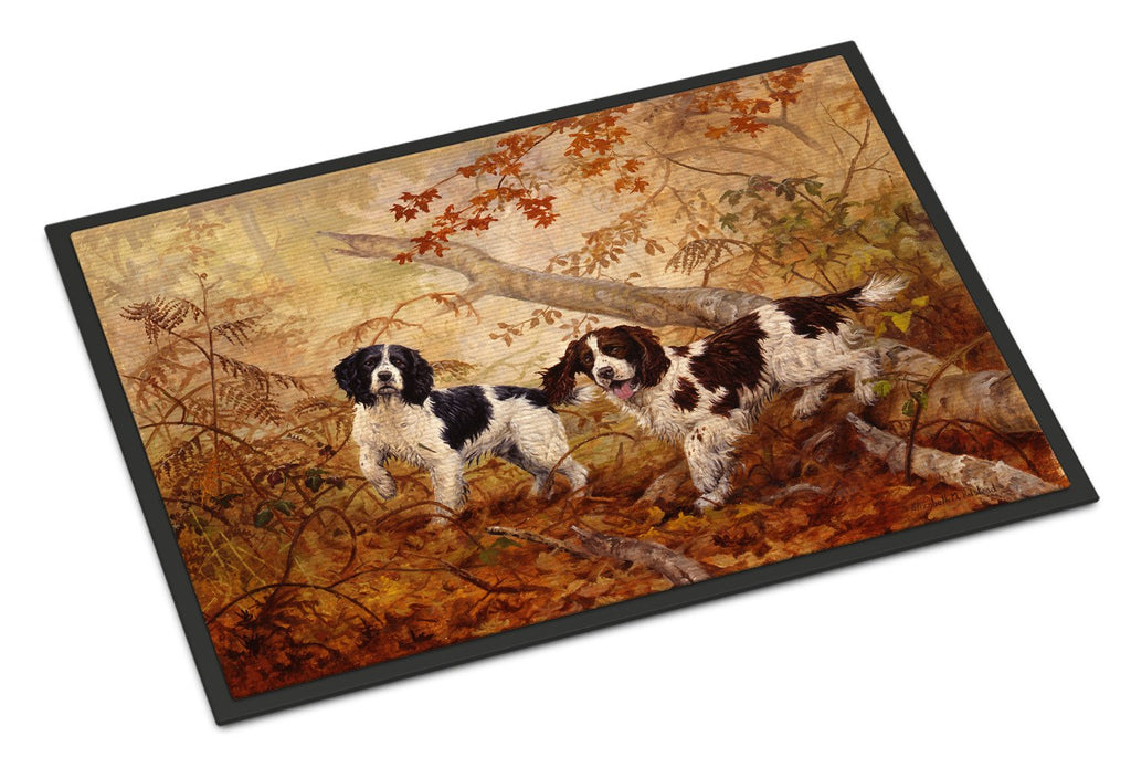 Buy this Springer Spaniels by Elizabeth Halstead Indoor or Outdoor Mat 18x27 HEH0139MAT