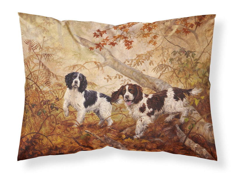 Buy this Springer Spaniels by Elizabeth Halstead Fabric Standard Pillowcase HEH0139PILLOWCASE