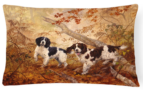 Buy this Springer Spaniels by Elizabeth Halstead Fabric Decorative Pillow HEH0139PW1216