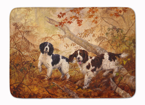 Buy this Springer Spaniels by Elizabeth Halstead Machine Washable Memory Foam Mat HEH0139RUG