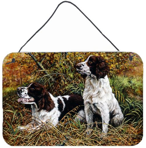 Buy this Two Springer Spaniels in the grasses Wall or Door Hanging Prints