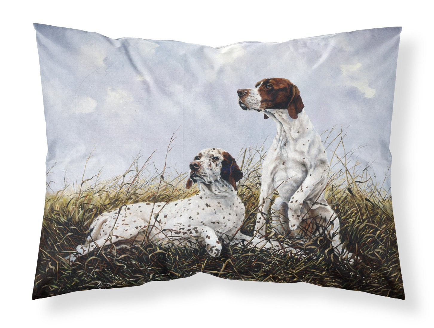 English Pointer by Michael Herring Fabric Standard Pillowcase HMHE0011PILLOWCASE by Caroline's Treasures