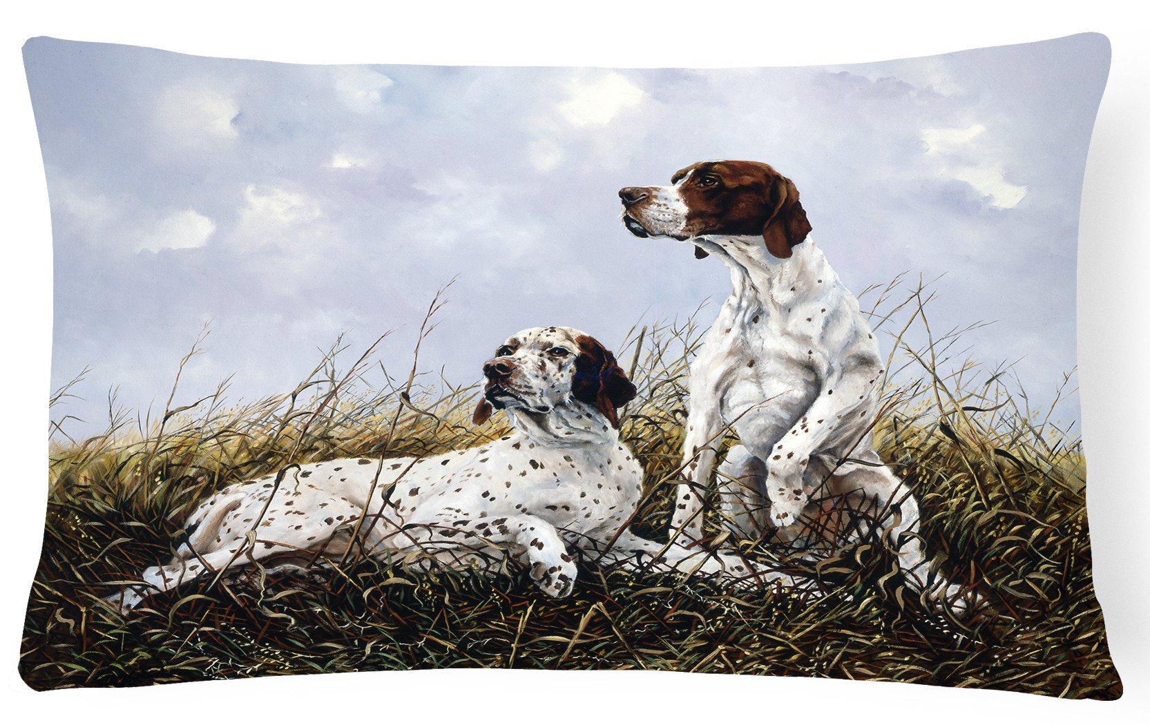 English Pointer by Michael Herring Fabric Decorative Pillow HMHE0011PW1216 by Caroline's Treasures