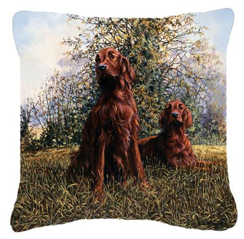 Buy this Red Irish Setters by Michael Herring Canvas Decorative Pillow