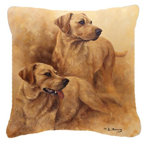 Buy this Yellow Labs by Michael Herring Canvas Decorative Pillow