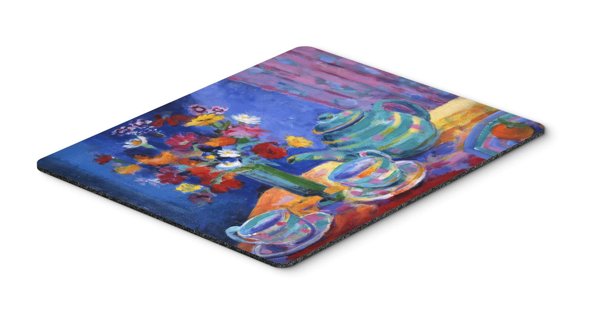 Buy this Blue Tea by Wendy Hoile Mouse Pad, Hot Pad or Trivet HWH0010MP