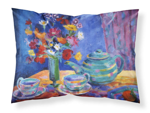 Buy this Blue Tea by Wendy Hoile Fabric Standard Pillowcase HWH0010PILLOWCASE
