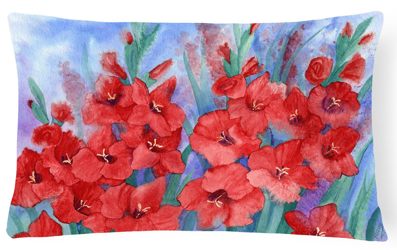 Buy this Gladioli Fabric Decorative Pillow IBD0250PW1216