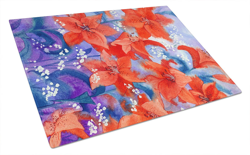 Buy this Lillies Glass Cutting Board Large IBD0257LCB