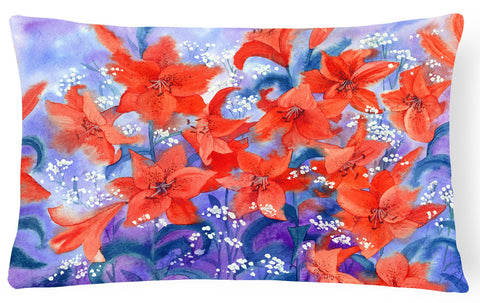 Buy this Lillies Fabric Decorative Pillow IBD0257PW1216