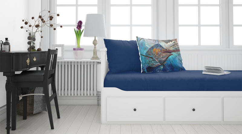 Buy this Running The Guantlet Blue Marlin Fabric Standard Pillowcase JMA2000PILLOWCASE