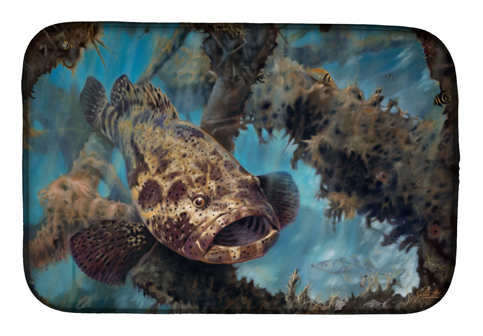 Buy this Golden Goliath Grouper Dish Drying Mat JMA2003DDM
